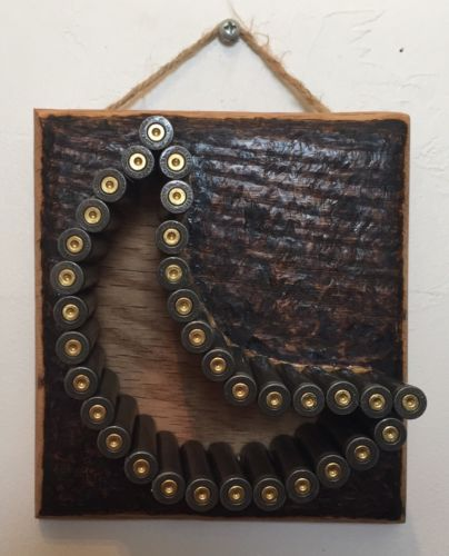 Bullet Shell Wall Hanging Art Handmade Moon 223
