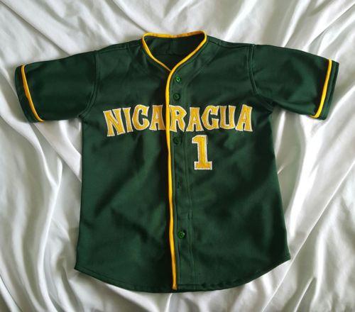 Nicaragua Youth Baseball Jersey Green