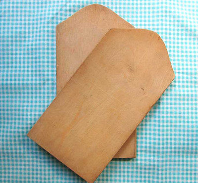 Pair of Small Vintage Wooden Individual Size Bread Boards w Old Surface Finish