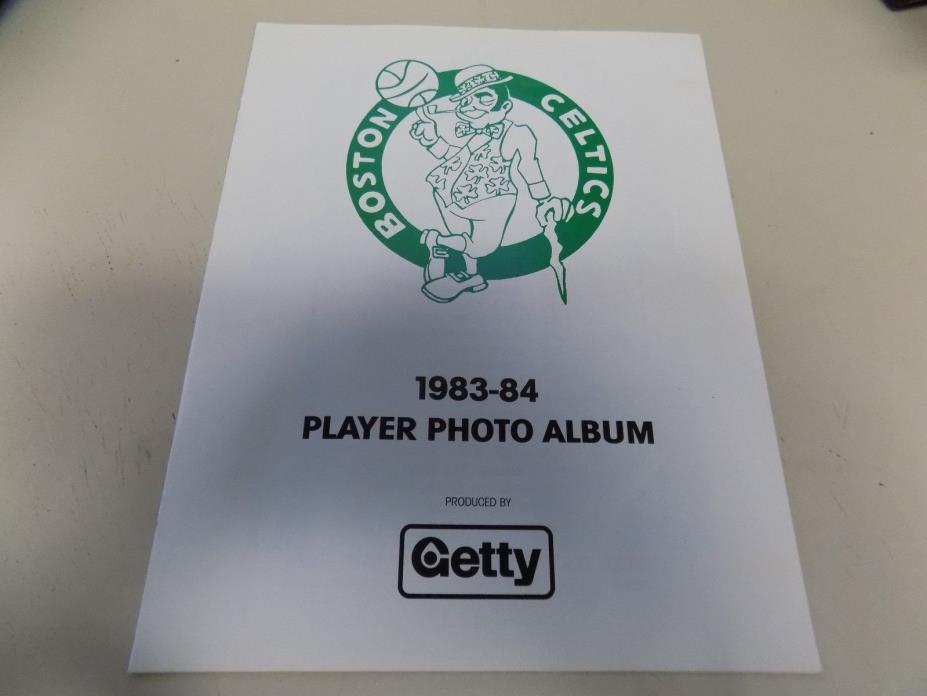 1983-84 BOSTON CELTICS  PLAYER PHOTO ALBUM , ( RARE )