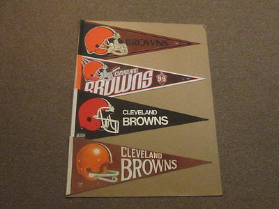 NFL Browns Lot of 4 Style #2 Vintage Football Pennants