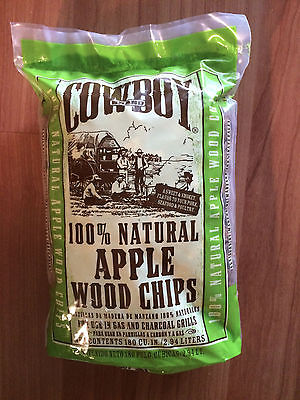 Cowboy  Apple Wood Chips-180 Cubic Inch-NEW