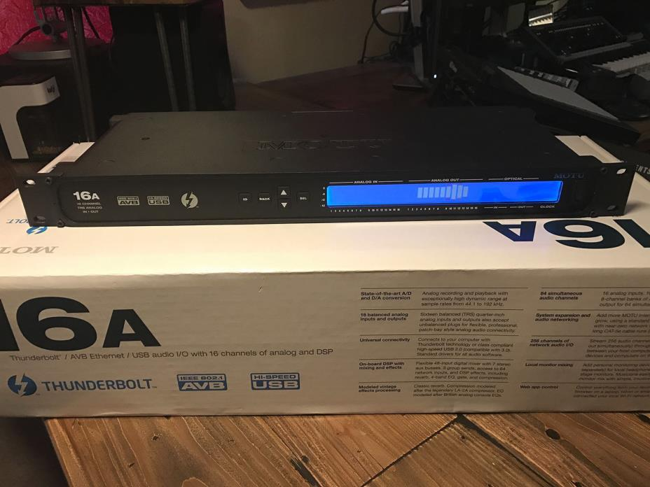 MOTU 16A - USB/Thunderbolt AVB Audio Interface