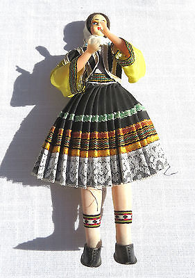 Vintage Doll in Ethnic Costume Woman Dancer 4x11 inch
