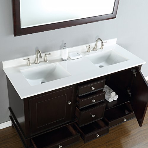 Mission Hills Furniture Cambridge Double Sink Combo Traditional Bathroom Vanity