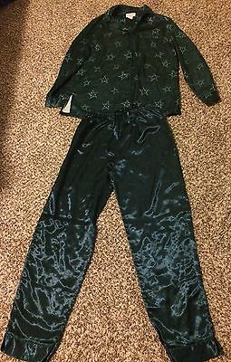 Women's Sonoma Life & Style Intimates Silk Pajamas Top/ Bottom Set Stare
