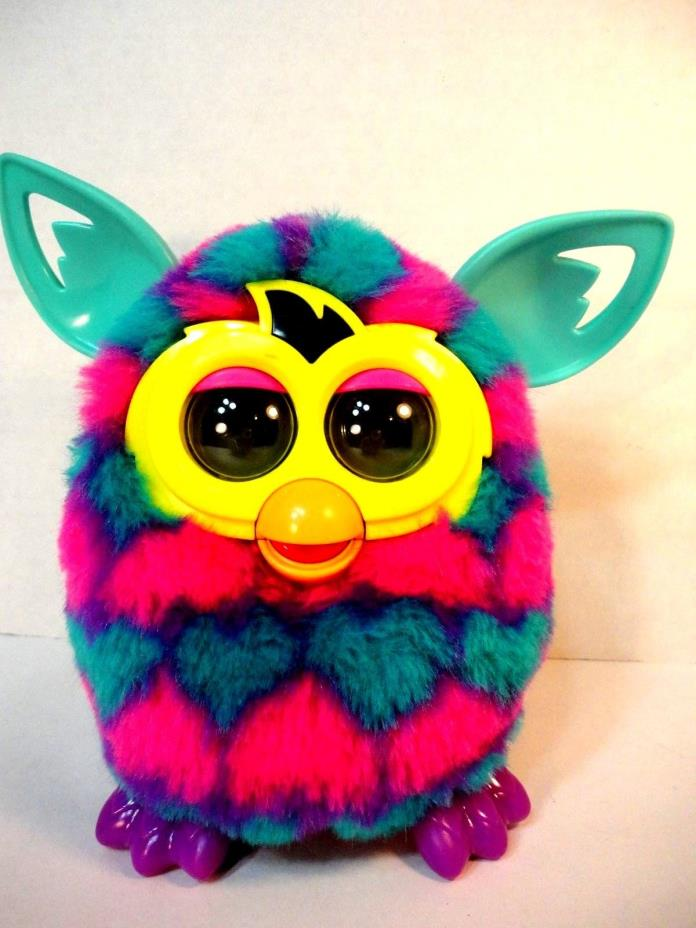 Furby Boom Electronic Interactive Toy 2012 Purple Pink Blue Hearts