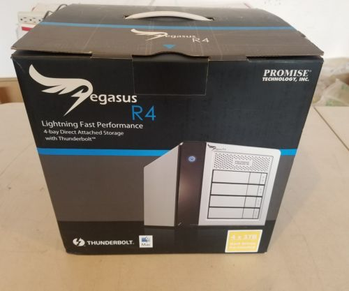 New open box Promise Technology Pegasus R4 Thunderbolt RAID System 4x 1TB SATA