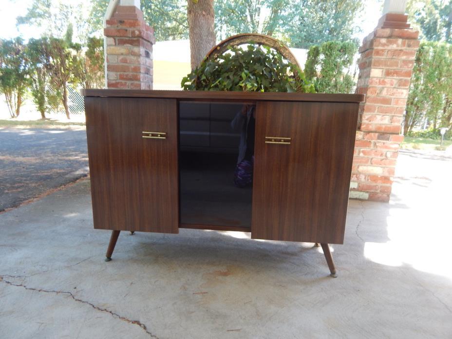 Vt 60's stereo  TV Stand Bar taper leg Eames mid century  wood Portland Or P/U