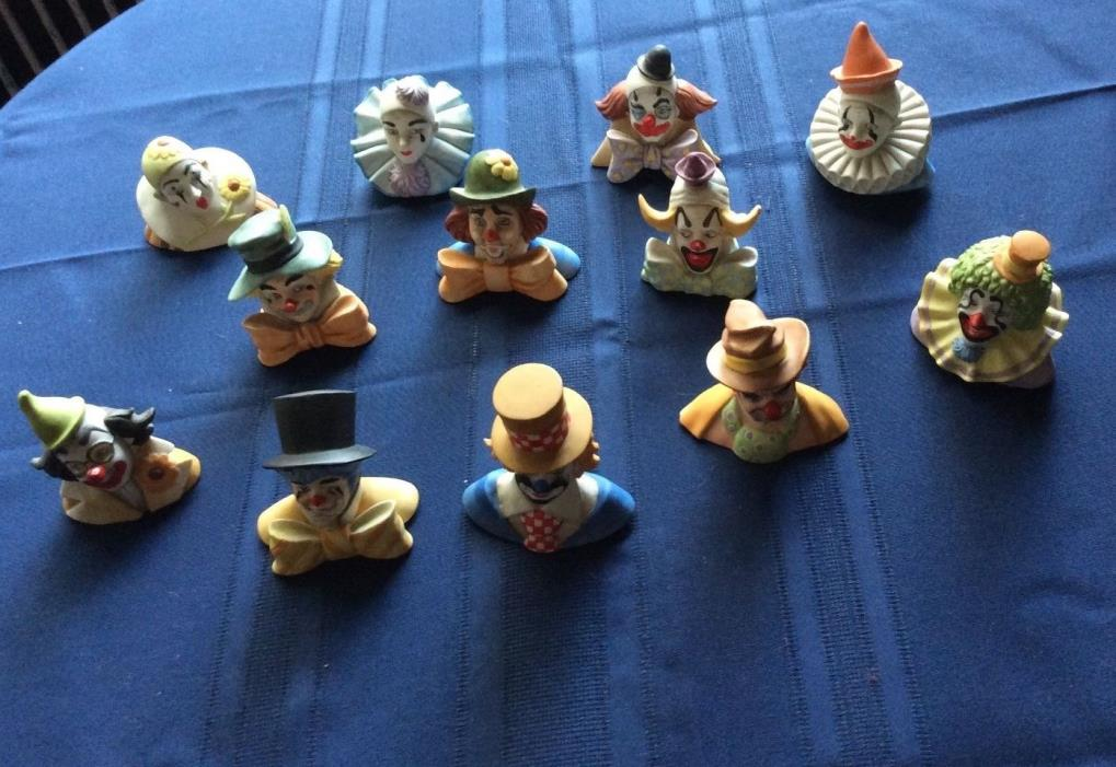 The  Reco Clown Collection ,12 porcelain clowns of fame. by Jake McClelland-1984