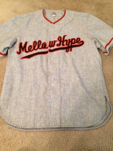 Ebbets Field Flannels Mellowhype Odd Future Baseball Jersey Rare Medium Wool