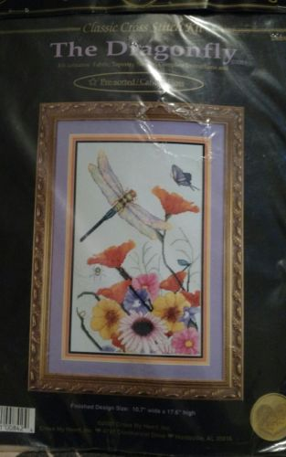 Heart, Inc. Dragonflys Counted Cross Stitch Kit