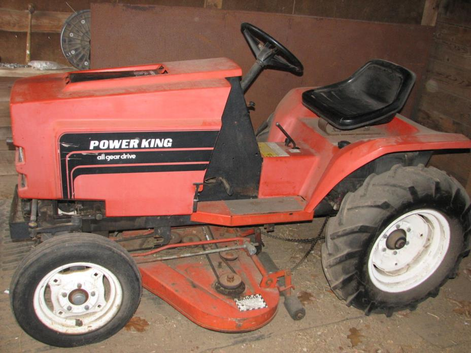 Power King 1614 Lawn Tractor Mower all gear drive 42