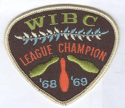 1968-1969 WIBC League Champion Patch