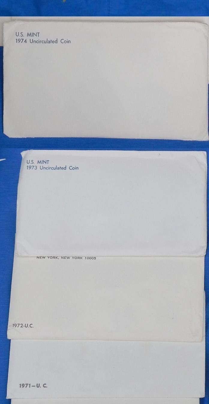4 BU Mint set sets [ 1971 1972 1973 1974 ] lot