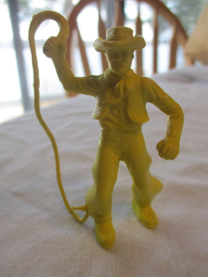 Marx 1950's  Cowboy with whip from early Western Town Roy Rogers Ranch