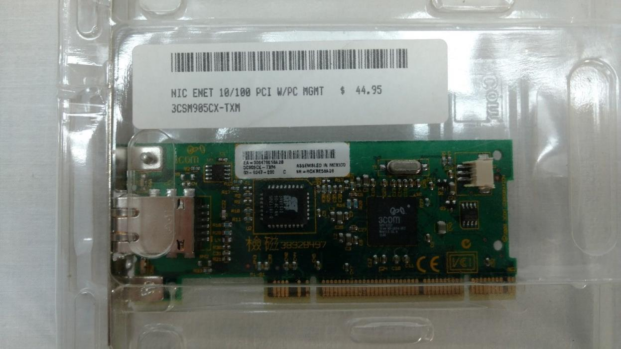 3Com 3C905 CX-TXM LAN Adapter 1x RJ-45 Interface 10/100Mbps PCI Network Card