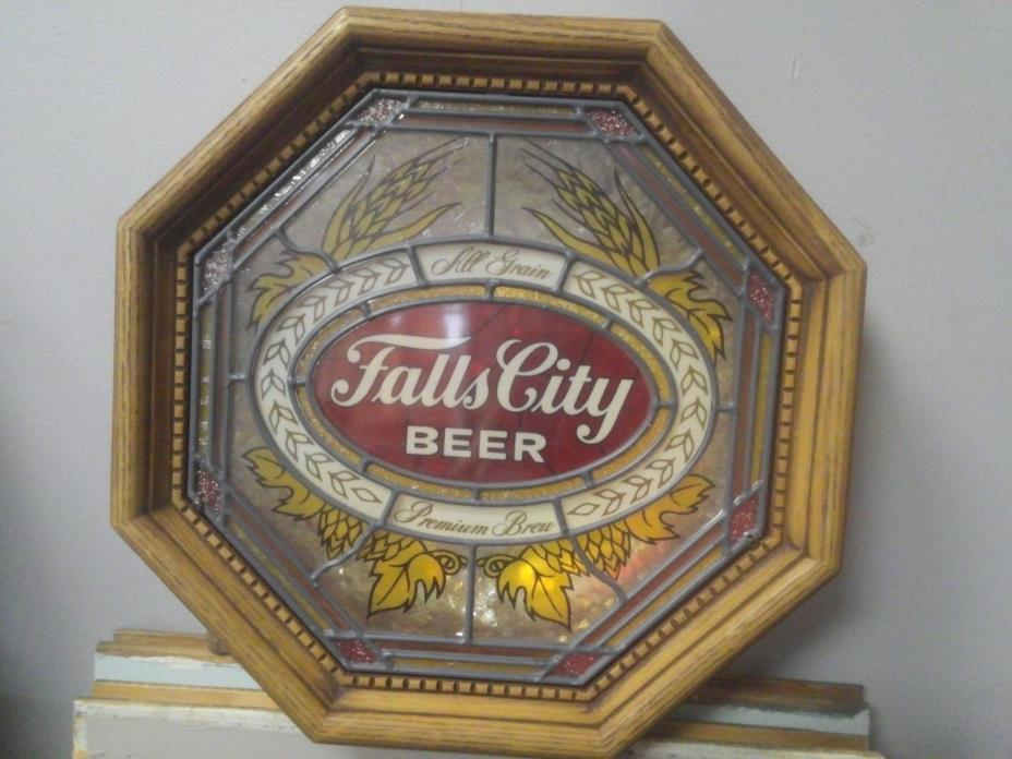 Authentic FALLS CITY BEER LIGHTED STORE DISPLAY NICE RARE Working & Tested