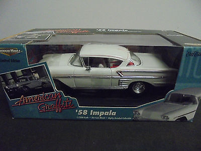 1958 CHEVY IMPALA AMERICAN GRAFFITI MOVIE DIECAST COLLECTABLE CAR 1:18