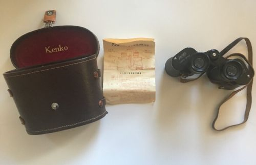 Kenko Coated Optics Binoculars 8x30  #43582 Field 75 W/case