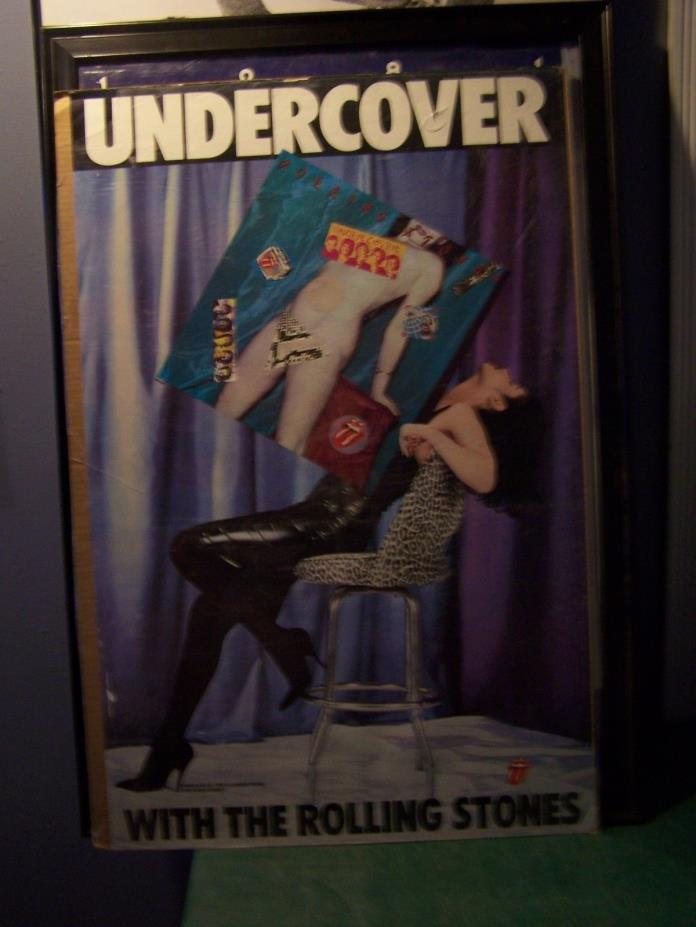 rolling stones  undercover with the rolling stones poster