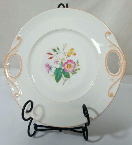 Antique Haviland Limoges H&Co Handled Cake Plate Platter Serving Dish c1876-86