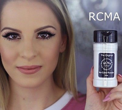 NEW RCMA No-Color Powder 3oz Face Cosmetic Loose Makeup Shaker Top Bottle Sealed