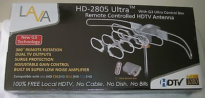 New LAVA HD 2805 Ultra Outdoor Remote Control HDTV Antenna UHF/VHF/HDTV/SDTV/FM