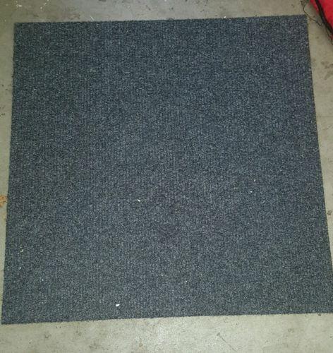 Grey Carpet tile squares 19 3/4x 19 3/4x 1/4 Lot of 10
