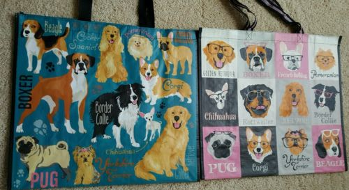 Dog Misc Mutts Breed Design 20 Bag Set -10 Each on Reuse Tote Bag Max Marshall