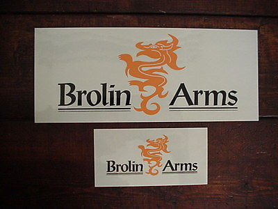 Brolin Arms product folder with (2) Brolin adhesive Display Signs