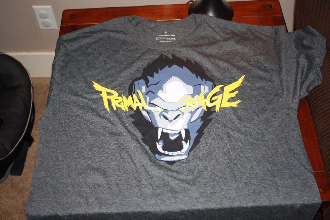 Overwatch Winston Primal Rage T-Shirt Shirt Lootcrate XL Primal Rage Brand New