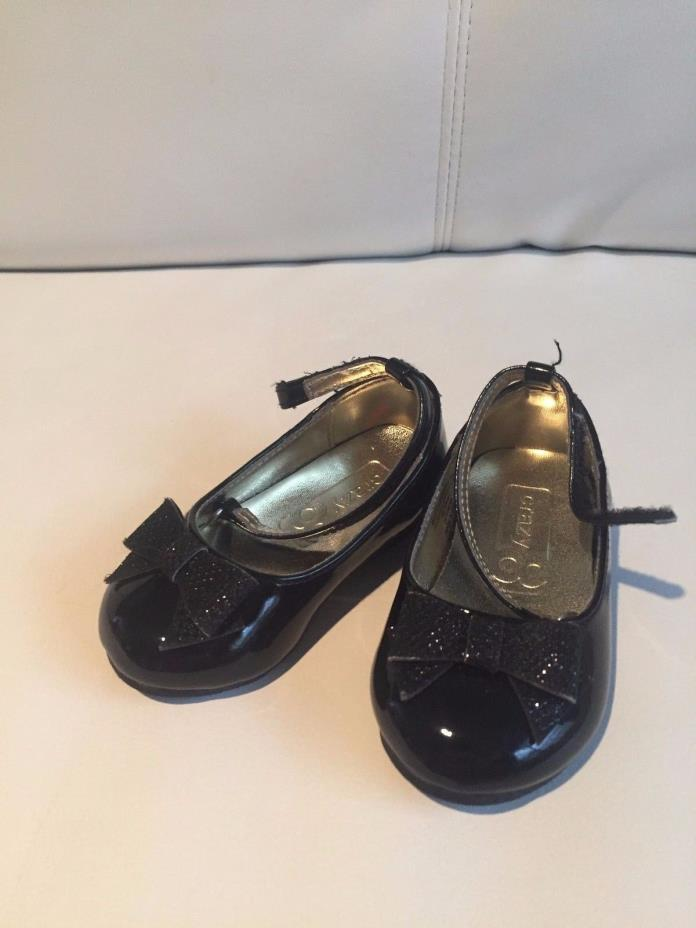 ?? Crazy8 Crazy 8 Patent Leather Baby Girl Toddler Shoes Size 4 Brand New Black
