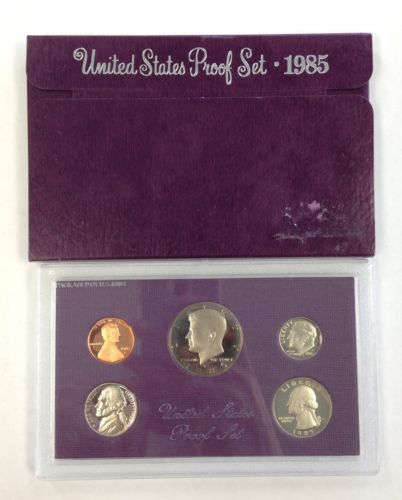 1985-S U.S. Mint Proof Set (Original Box)**NO COA** Clad UNC
