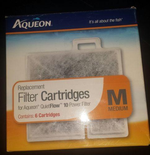 Aqueon Aquarium Filter Cartridge Medium 06085 5 pack for Quiet Flow 10