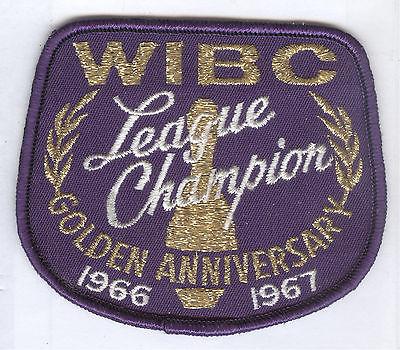 1966-1967 WIBC League Champion Patch