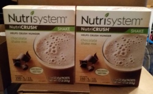 2 Boxes of Nutrisystem Nutricrush Chocolate  Shakes (5 Packets in each box )