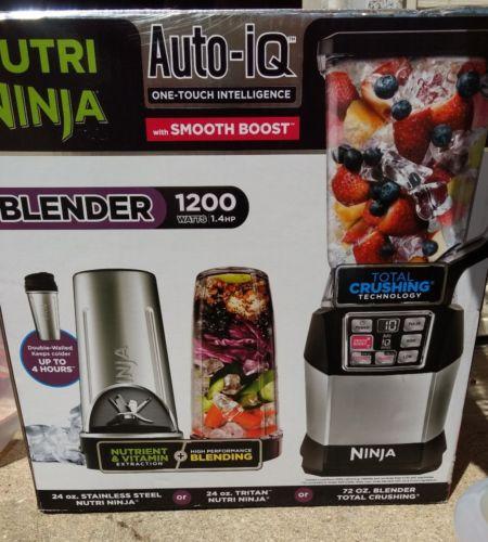***NEW Nutri Ninja Auto-IQ Blender with Smooth Boost 1200W BL490***