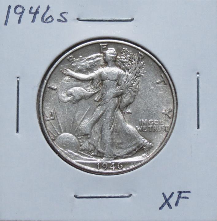 1946S XF Problem Free Walking Liberty Half Dollar 7F12WGA