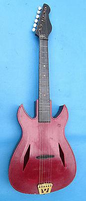 Vintage '60s Brumberger ' Tini Lopez ' GO-GO Guitar Polystyrene Emenee ROCK !