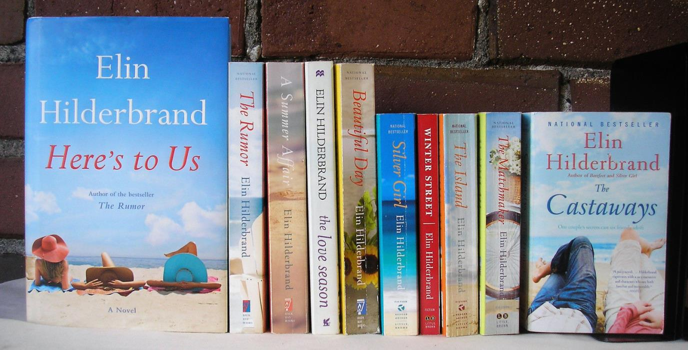 Elin Hilderbrand Lot 10 Romance Heres to Us The Rumor Island HC PB
