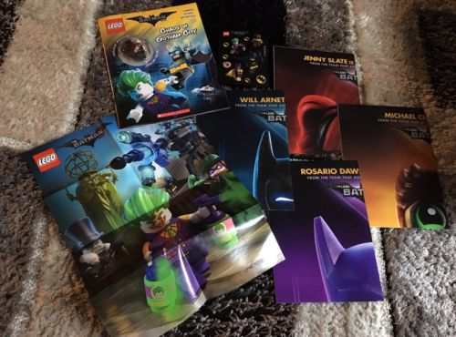 LEGO BATMAN LEGO STORE MOVIE POSTER LOT TARTAN BATMAN