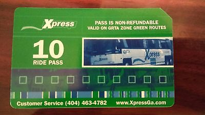 GRTA Xpress 10 Ride Pass - Green Zone