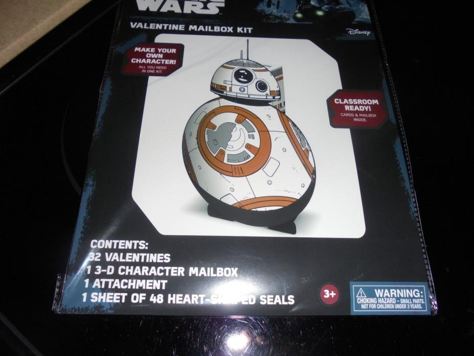DISNEY STAR WARS VALENTINE MAILBOX~~CLASS ROOM READY~~~ NEW~~FAST SHIPPING!!!1