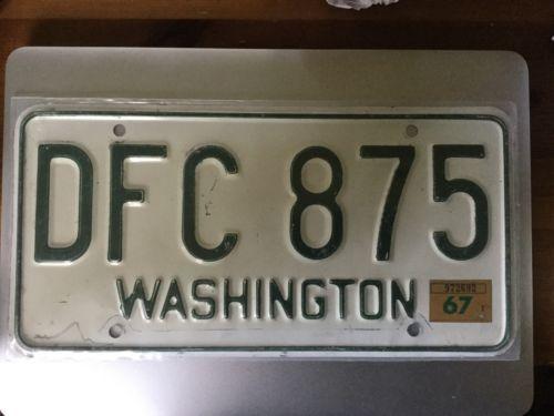 Washington state license plate 1965 1966 1967
