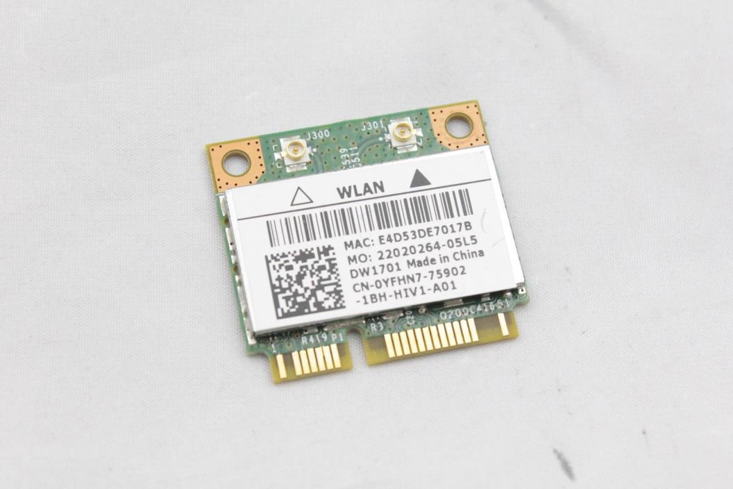 OEM Dell Vostro 1540 1550 Wireless 1502 WiFi WLAN Half-Height Mini Card D006W