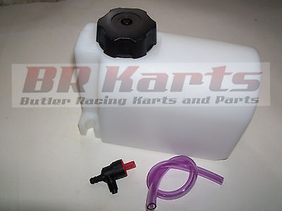 Plastic Fuel / Gas Tank 2 Quart Qt. Go Kart Racing, Cart