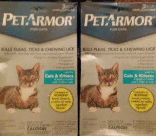 PetArmor for cats 1.5lbs & up 3 Applications 3 Month Flea & Tick Treatment ~NEW~
