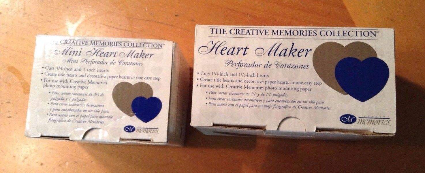 Creative Memories Large and Small Heart Makers NIB