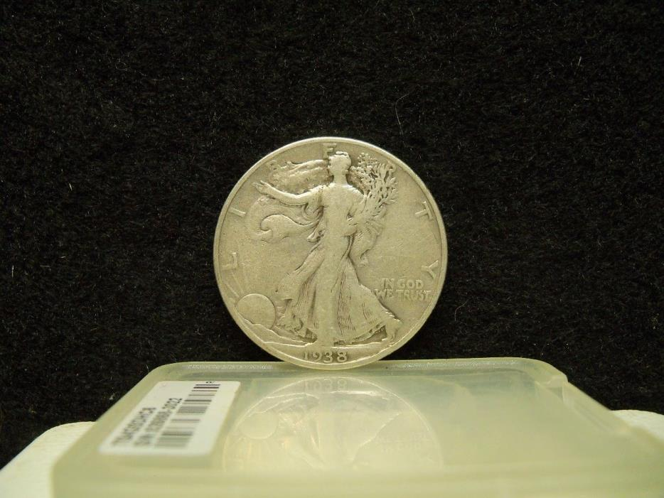 * 1938 WALKING LIBERTY SILVER HALF DOLLAR